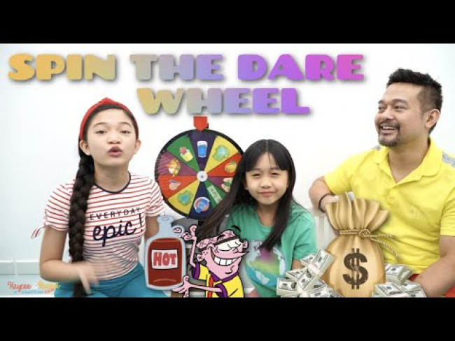 SPIN THE DARE WHEEL CHALLENGE | KAYCEE & RACHEL in WONDERLAND FAMILY