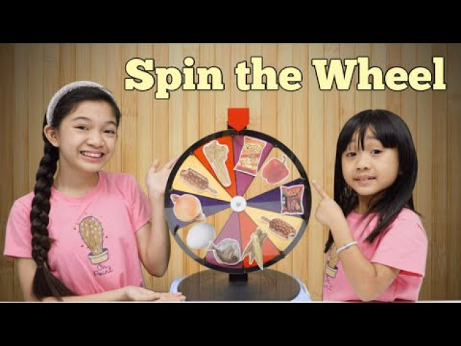 Spin the Wheel and Eat Whatever it Lands On Challenge