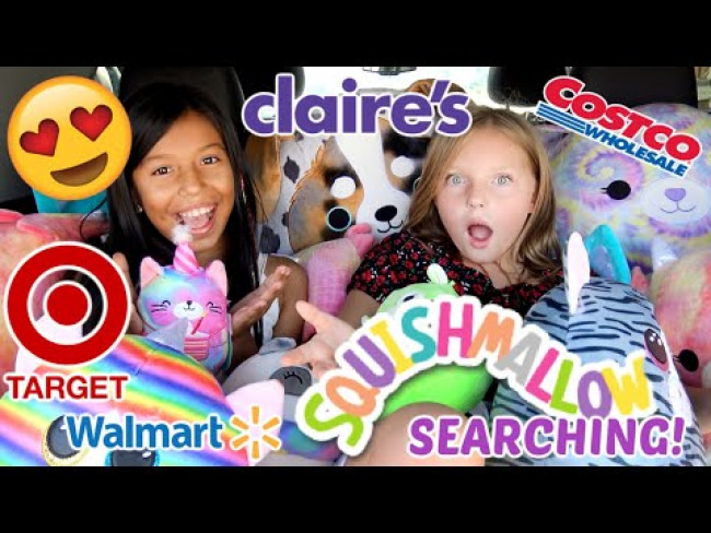 SQUISHMALLOW SEARCHING with The TOYTASTIC SISTERS! GIANT SQUISHMALLOW COLLECTION! FUNNY KIDS SKIT!