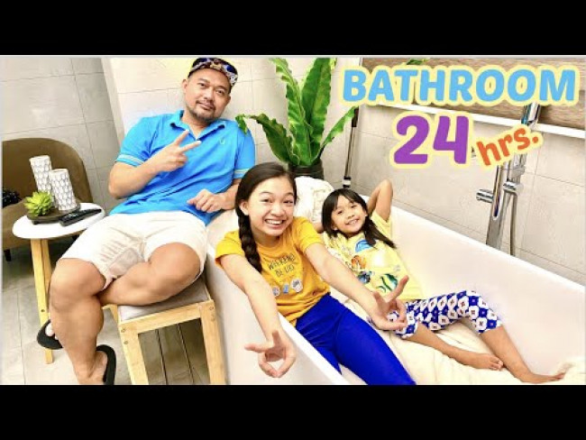 STAY IN THE BATHROOM FOR 24 HOURS CHALLENGE | KAYCEE & RACHEL in WONDERLAND FAMILY