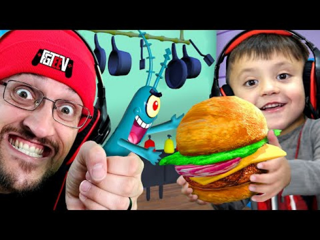 STOP PLANKTON from Stealing KRABBY PATTY Formula! (FGTeeV Weird Spongebob Dreams #3)