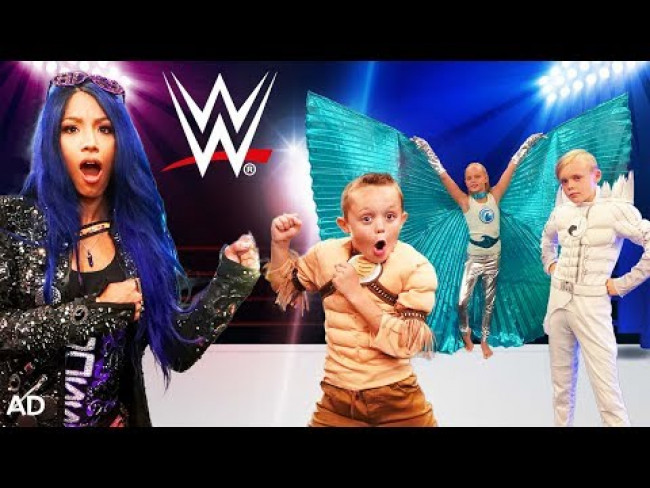 Super Stars In Training! WWE & Kids Fun TV Team Up! Challenged By SuperHero Kids!