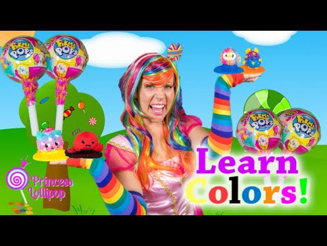Surprise Pikmi Pops Help Princess Lollipop Teach Colors!