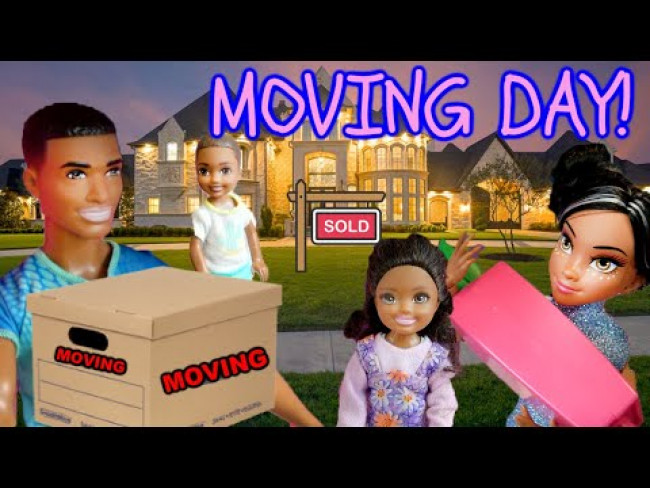 THE HAPPY HOUSE (Episode 2) MOVING DAY! The TOYTASTIC Sisters. FUNNY KIDS SKIT! BARBIE TOY PLAY!