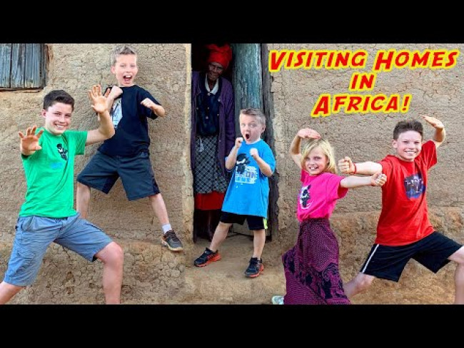 The Ninja kidz visit homes in Africa!!