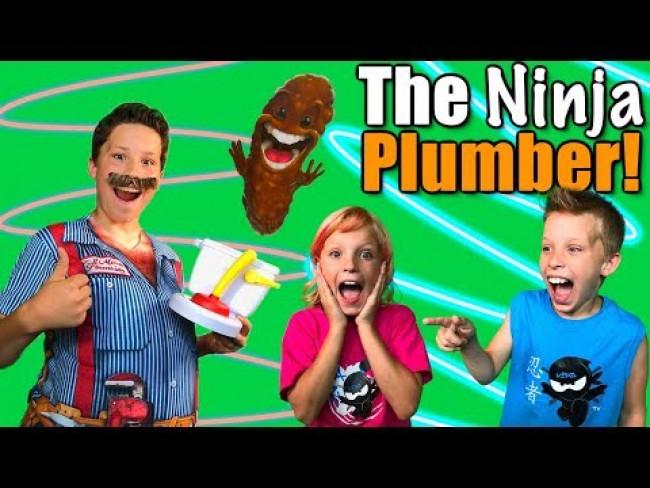 The NINJA Plumber! NINJA KIDZ TV
