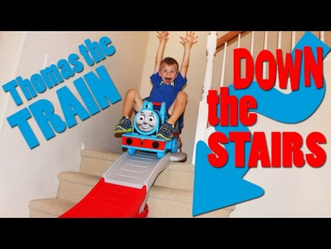 Thomas the Train Down the Stairs