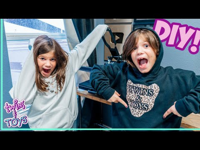 Twin Sisters Make DIY Custom Sweatshirts!