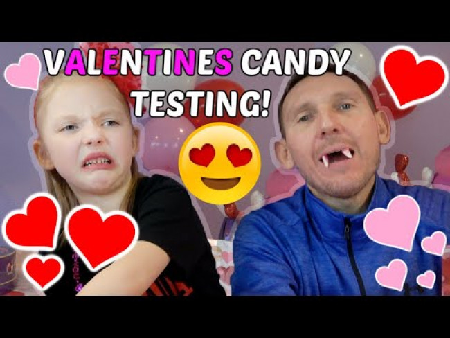 VALENTINES day CANDY TESTING! FUN and FAILS! The TOYTASTIC Sisters. FAMILY VLOG!