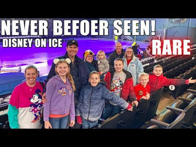 We Join DISNEY ON ICE Show ON THE ICE!!  + Exclusive Behind the Scenes