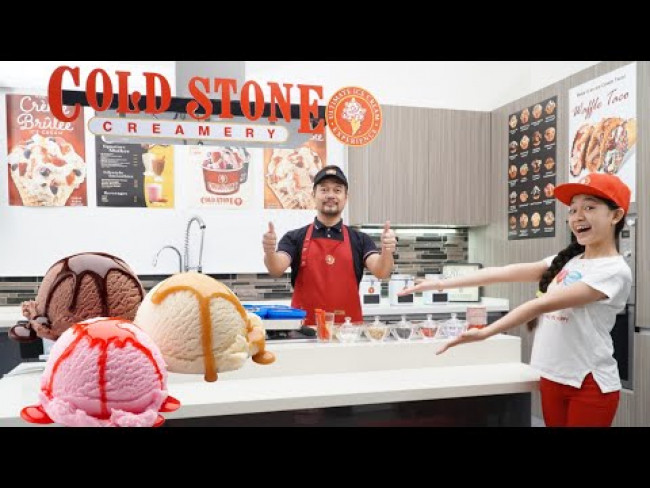We Opened our own  COLD STONE CREAMERY at HOME | Kaycee & Rachel