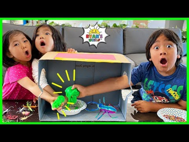 What's in the box Challenge with Ryan Emma and Kate!!!