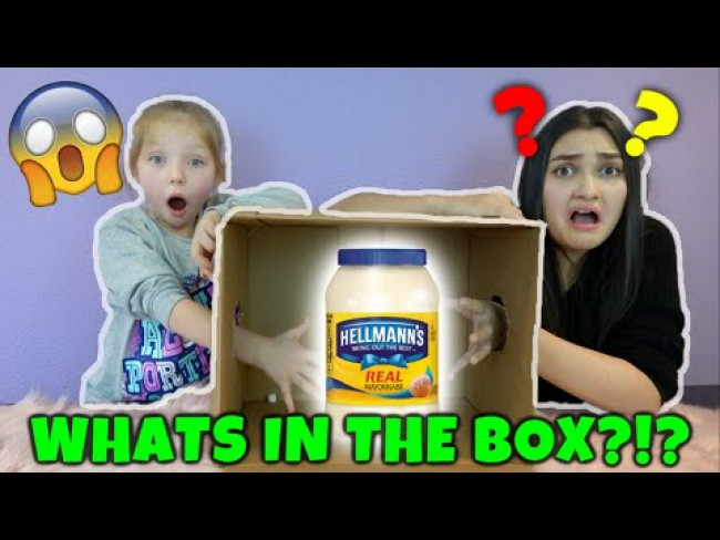 WHAT'S in the BOX CHALLENGE!! KAIA and SISSY! The TOYTASTIC Sisters. FUNNY KIDS SKIT!!