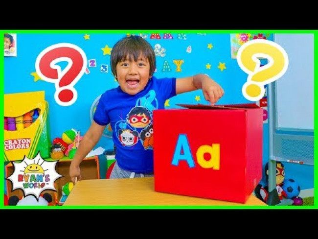 What's Surprise is in the BOX Learn ABC with Ryan's World!!!