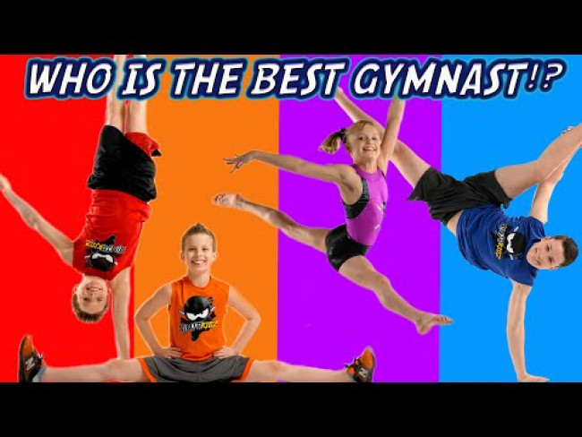 Who is the Best Gymnast Part 2! Sis vs Bros Challenge!