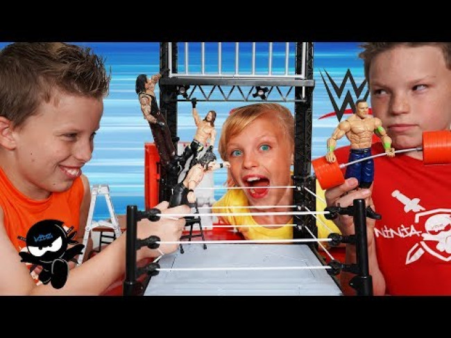 WWE Wrekkin Performance Center! Ninja Kidz