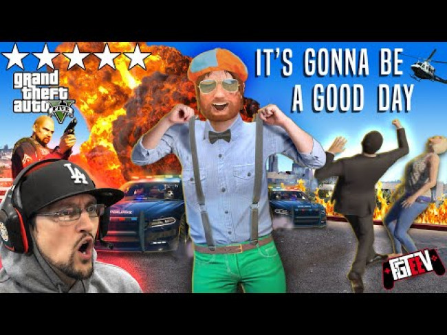 Youtuber Gone Wild in GRAND THEFT AUTO 5!  FGTeeV Visits America!